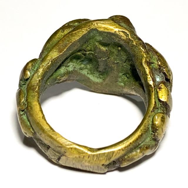Hwaen Ngu See Gler Giaw Sap 2460 BE 4 Entwined Snakes Magic Ring Protection & Wealth LP Im Wat Hua Khao