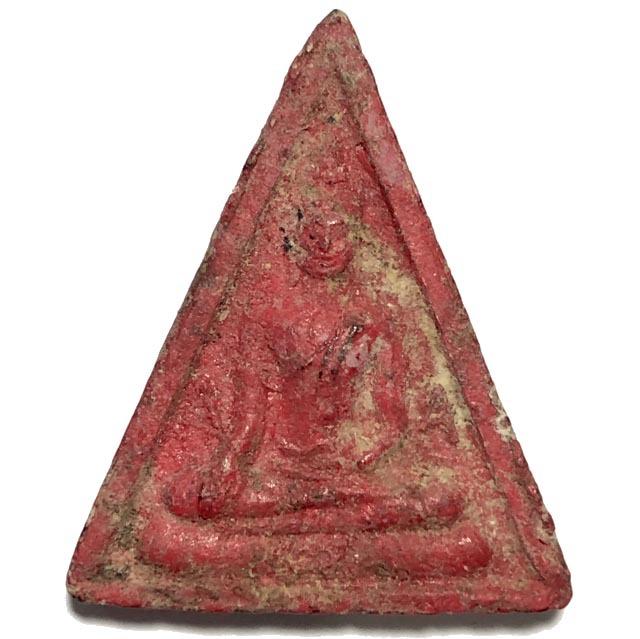 Pra Somdej Paya Bparamadth Pim A-A 2 sided Buddha Amulet Luang Por Pina Wat Sanom Lao Extremely Rare 03764