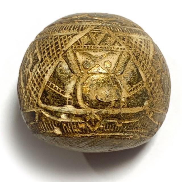 Kot Kala Phueak Pra Rahu Mai Mee Ta Albino Eyeless Coconut Carved Asura Deva Eclipse God Luang Por Pin Wat Srisa Tong 03794