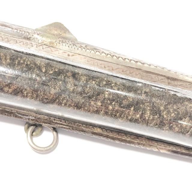 Takrut Maha Ud Nuea Dtakua Mad Chueak Lai Jorakhae 4.5 Inches Antique Silver Casing Luang Phu Sukh FREE EMS