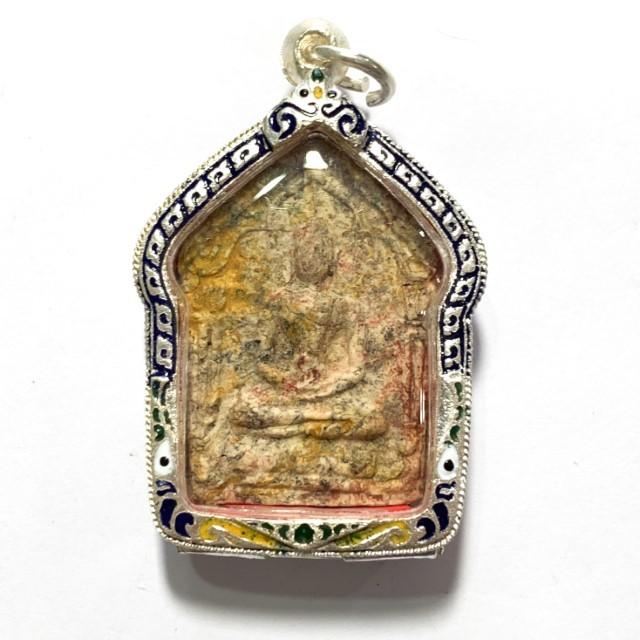Khun Phaen Prai Kumarn 2515 BE Nuea Grayasart Takrut Sariga Koo & Authenticity Certificate Luang Phu Tim Free EMS & Silver Casing 03816