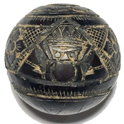 Kot Kala Pra Rahu Mai Mee Ta Ud Kring Eyeless Coconut Shell with Magic Bead Rattle Luang Por Pin Wat Srisa Tong