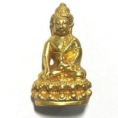 Pra Kring Chinabanchorn Pi 15 Nuea Piak Tong Dtok Code  Sala & Tor Met Nga with Authenticity Certificate Luang Phu Tim Wat Laharn Rai Free EMS