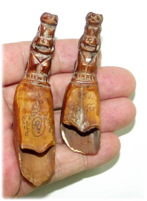 Hang Suea Tiger Tail with Sacred Khom Agkhara Inscriptions 9 Inches - Luang Por Phern Wat Bang Pra