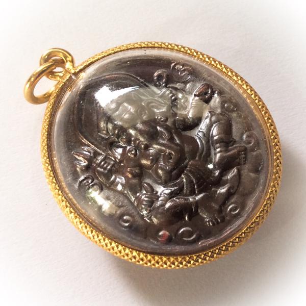 Rian Pra Pikanes Nuea Tong Daeng 2539 BE - Gold Plated Casing - Luang Por Lae Wat Pra Song (Petchburi) 02551
