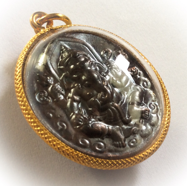 Rian Pra Pikanes Nuea Tong Daeng 2539 BE - Gold Plated Casing - Luang Por Lae Wat Pra Song (Petchburi)