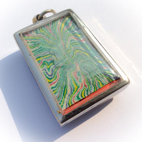 Pra Somdej Pim Kaiser Sai Rung - Green Rainbow Powders - Wat Pikul Tong Centenary Edition - Gold Takrut - Luang Por Pae 2535 BE