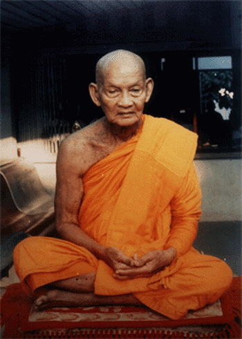 Pra Somdej Prok Po Sai Rung Nuea Pong Nam Man 2505 BE Silver Casing with Rhinestones - Luang Por Khom Wat Pai Rong Wua