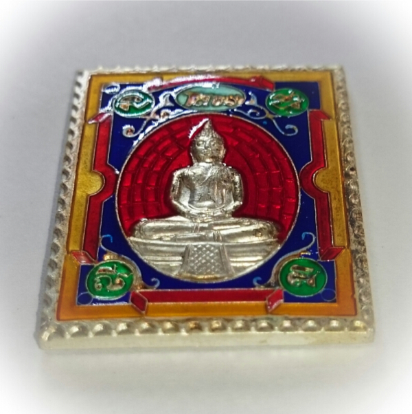 Rian Stamp Luang Por Sotorn (Red) - Nuea Galai Ngern Long Ya Benjarongk - Uposadha Building Edition 2539 BE 02594
