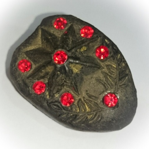 Daw Aathan Hnun Duang - Lucky Star 5 and 8 Pointed Pentacle Amulet (2 sided) - Luang Por Pina - Wat Sanom Lao