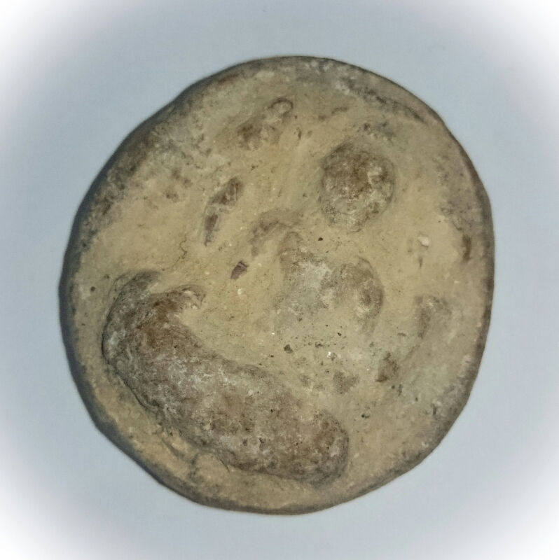 Pra Pim Pra Bodhisattva Avalokiteshvara (4 Armed) 1200 year old Ancient Amulet from the Sri Vichai Period (Museum Piece) - Nakorn Sri Tammarat Archeological Dig