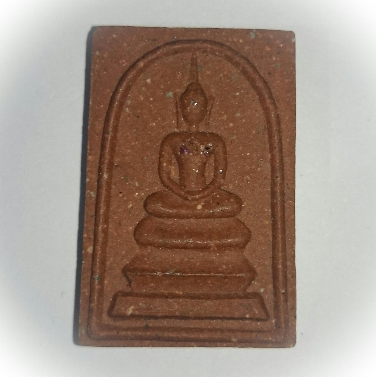 Pra Somdej Nuea Daeng with Ruby Fragments - Luang Por Niyom - Wat Takian Tia  Circa 2540 BE 02644