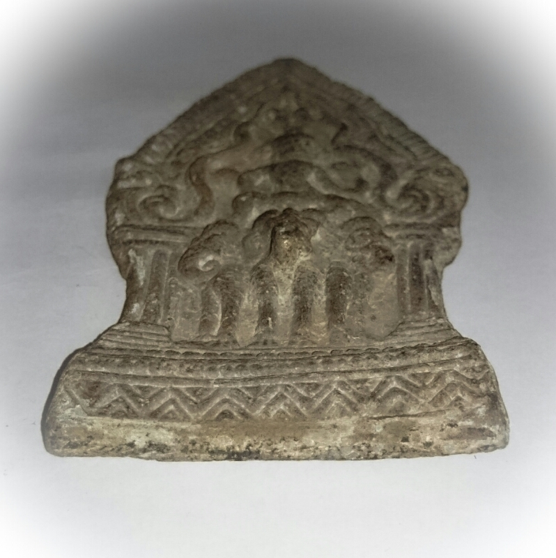 Indra God on 3 headed Elephant Steed Lopburi Era Art - 11.5 x 6 Cm Plaque - Nuea Chin Boran Ancient Sacred Artifact from 100 Year Old Archeological Dig