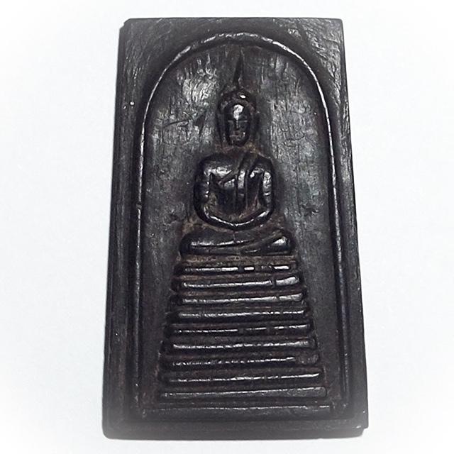 Pra Somdej Gao Chan Nuea Mai Sao Bote - Carved Shrine Room Pillar Wood - Luang Phu Rian Wat Nong Bua 2494 BE