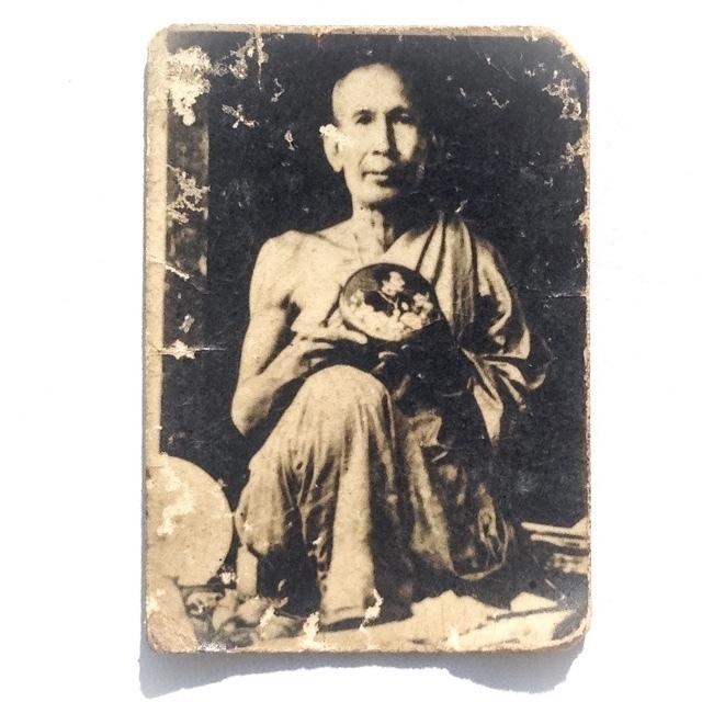 Roop Tai Kroo Ba Ajarn 2485 BE - Guru Monk Photograph Blessed by Luang Por Opasi - Asrom Bang Mot