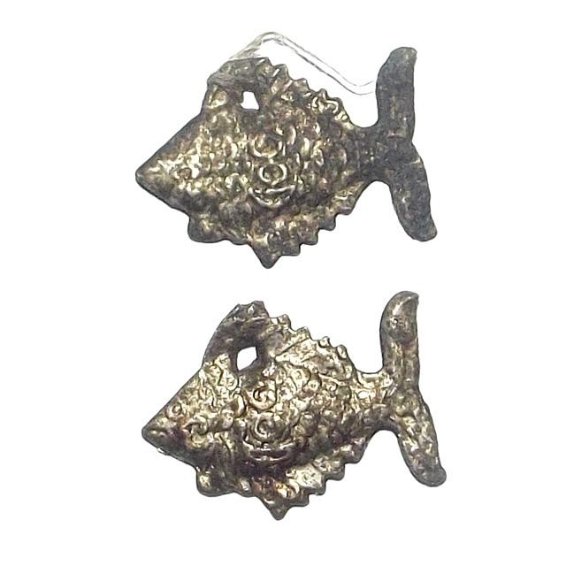 Pla Tapian Koo Ngern Tong Dtua Phu Dtua Mia Male-Female Wealthy Bringing Fish 2485  BE - Luang Por Jong - Wat Na Tang Nork 02854