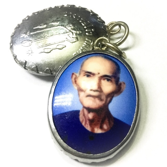1st Edition Locket Ajarn Ah Pae Rong Si Ngow Kim Koi Hlang Yant Fa Pratan Porn 2519 BE Chinese Lay Master Amulet for Good Business,  Karma + Anti Black Magick 02859