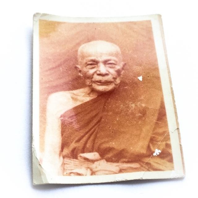 Roop Tai Pra Kroo Yan Wilas  Guru Monk Photo Amulet 2514 BE - Luang Por Daeng Wat Khao Bandai It 02876