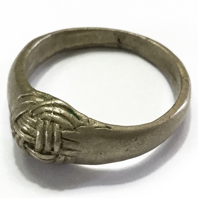 Hwaen Pra Pirord (Hwaen Dtakror) Magic Ring of Protection and Power Circa 2488 BE - Nuea Albaca - Luang Por Khwan Wat Ban Rai 02964