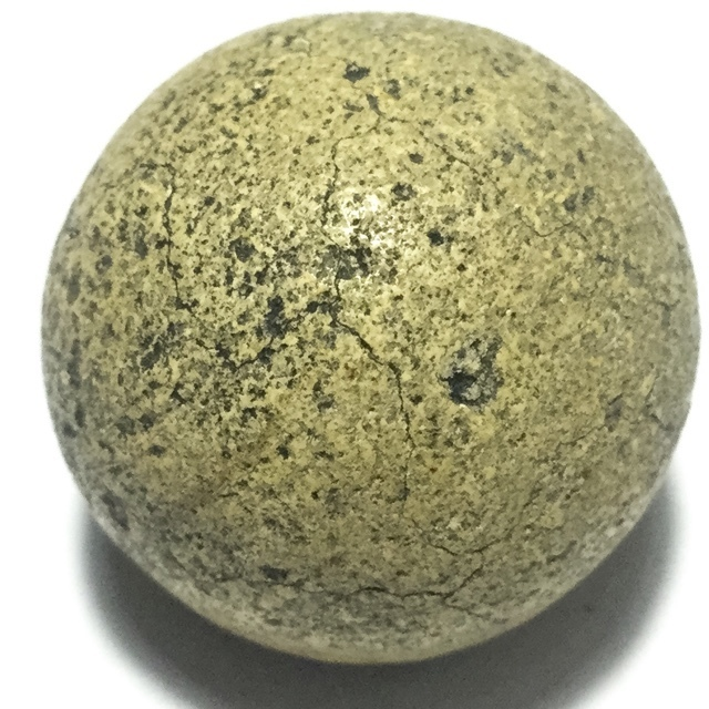 Look Om Pong Wised Pim Niyom 2460 BE - 5 Sacred Powders Wishing Ball Large Size 2 Cm - Luang Por Parn Wat Bang Nom Kho 03009