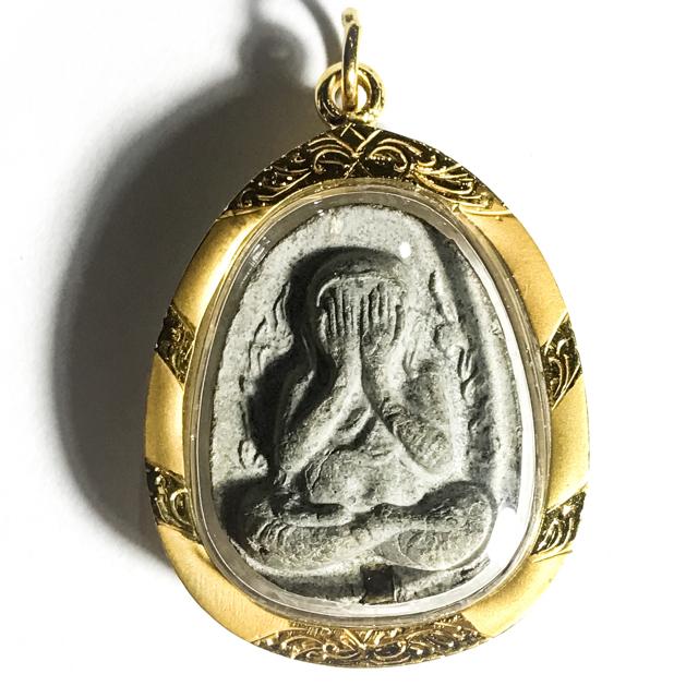 Pra Pid Ta Granok Khang - Nuea Bailan Takrut Ngern Solid 96% Gold Casing - 2522 BE Luang Phu To Wat Pradoo Chimplee 03054