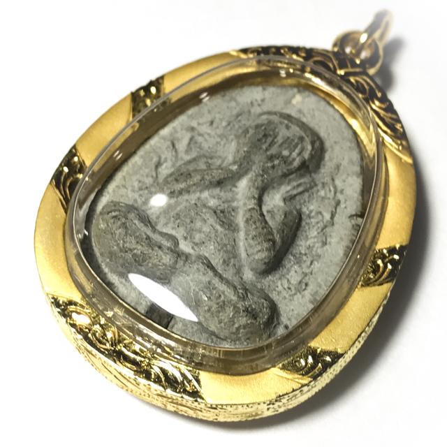 Pra Pid Ta Granok Khang - Nuea Bailan Takrut Ngern Solid 96% Gold Casing - 2522 BE Luang Phu To Wat Pradoo Chimplee