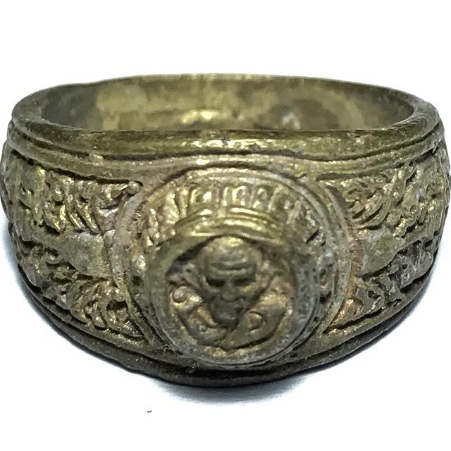 Hwaen Luang Por Ngern Guru Monk Ring Amulet 2525 BE - Nuea Tong Pasom - Wat Bang Klan (Pijit) 03064