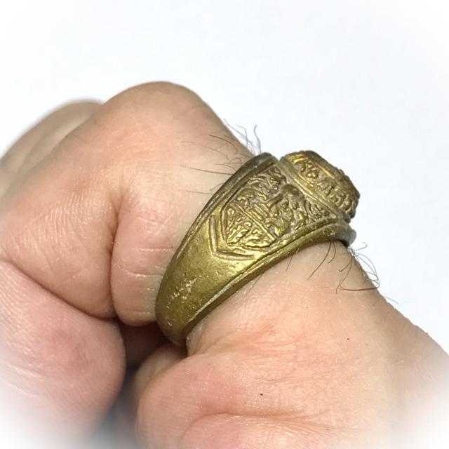 Hwaen Luang Por Ngern Guru Monk Ring Amulet 2525 BE - Nuea Tong Pasom - Wat Bang Klan (Pijit)