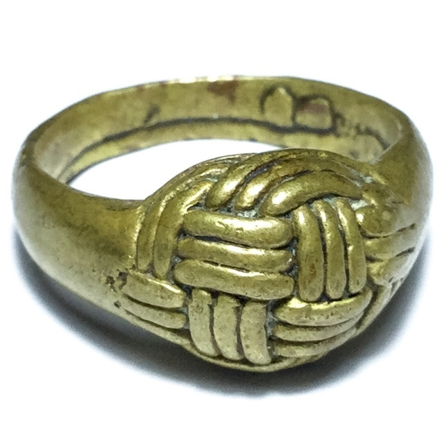 Hwaen Dtakror Pirod Ring of Power + Invincibility 2488 BE  Nuea Rakang 2.1 Cm - Luang Por Khwan Wat Ban Rai 03103