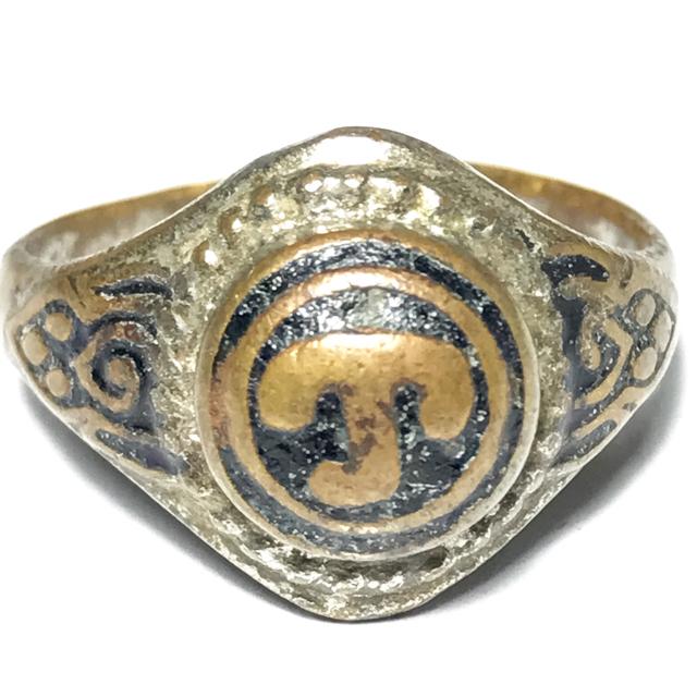 Hwaen Hua Namo Yantra Spell Ring Circa 2511 BE 2.1 Cm - Por Tan Klai Wajasit Wat Suan Khan 03133