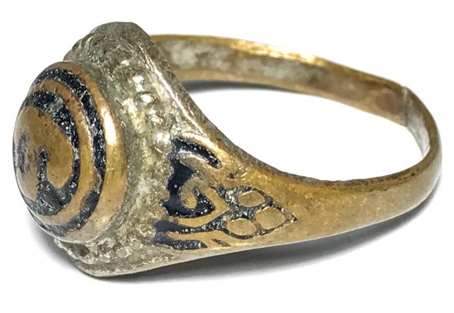 Hwaen Hua Namo Yantra Spell Ring Circa 2511 BE 2.1 Cm - Por Tan Klai Wajasit Wat Suan Khan