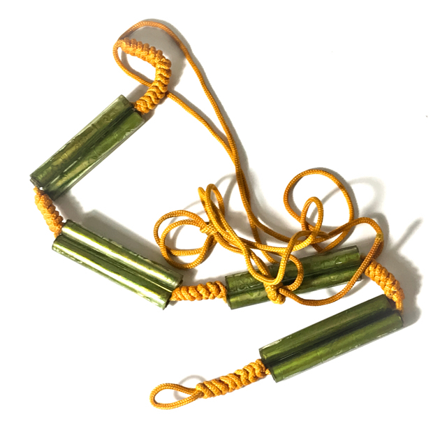Chueak Kart Aew Takrut Paed Dork 8 Prayer Water Soaked Takrut Spells on cord belt  2515 BE - Luang Phu Jiam - Wat Nong Yaw 03139