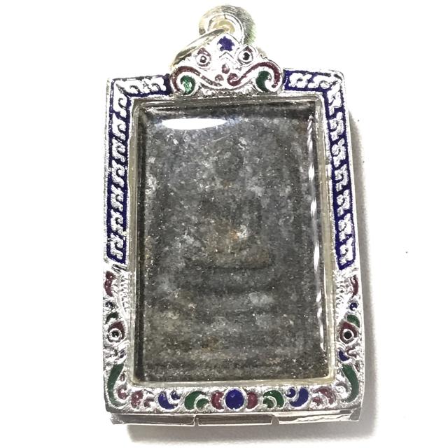 Pra Somdej Pim Bang Khun Prohm 2506 BE Solid Silver Casing 2 Blessing Ceremonies 234 Guru Masters - Wat Prasat 03176