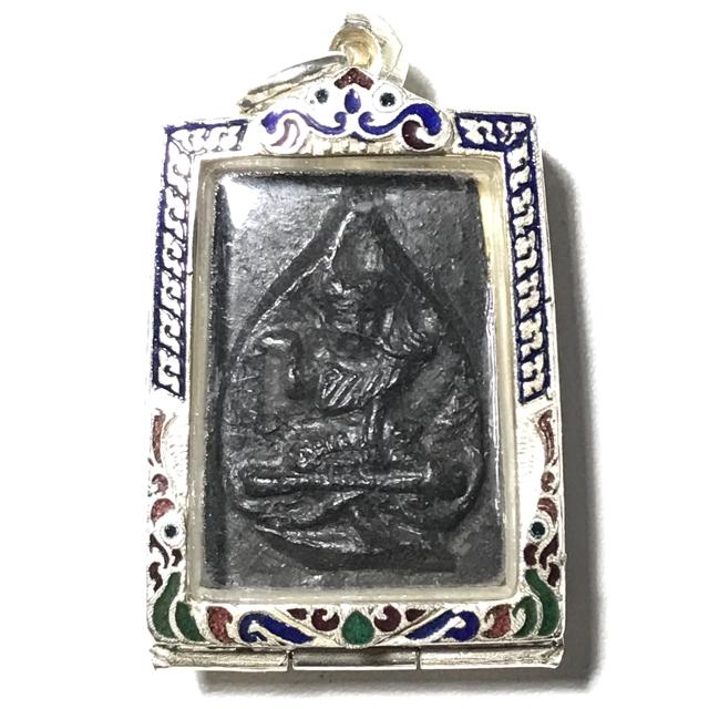 Pra Nang Kwak Nuea Pong Jum Rak Hlang Yant Solid Silver Frame - Luang Por Plern - Wat Nong Mai Luang 03177