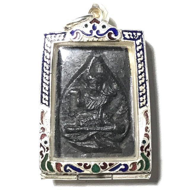 Pra Nang Kwak Nuea Pong Jum Rak Hlang Yant Solid Silver Frame - Luang Por Plern - Wat Nong Mai Luang
