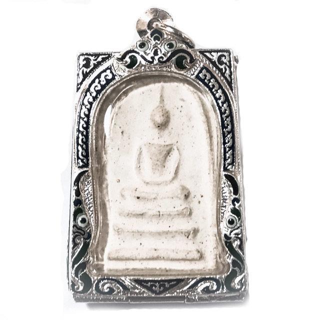 Pra Somdej Sam Chan Pim Gaes Talu Sum 2506 BE Solid Silver Casing 2 Blessing Ceremonies 234 Guru Masters - Wat Prasat 03194