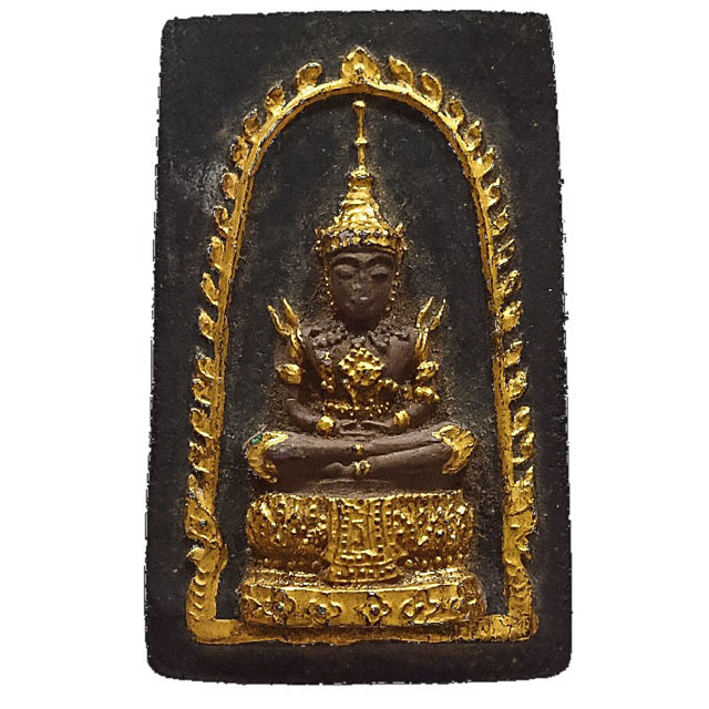 Pra Gaew Morakot Song Ruedu Rorn 2512 BE Emerald Buddha in Summer Robes - Luang Phu Rerm Wat Juk Gacher 03216