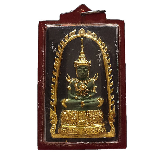 Pra Gaew Morakot Song Ruedu Rorn 2512 BE Emerald Buddha in Summer Robes - Luang Phu Rerm Wat Juk Gacher 03238