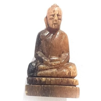 Pra Putta Kodom Pim Nang Samadhi - Carved Sacred Wooden Buddha - Rare Master Class Amulet - Luang Por Derm Wat Nong Po
