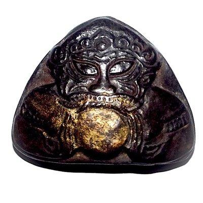 Pra Rahu Om Jantr Eclipse God Swallowing the Moon - Kroo Ba Nanta - Wat Tung Man Dtai