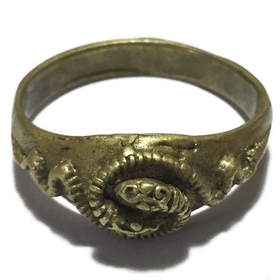 Hwaen Ngu Giaw Sap Entwined Snakes Magic Ring of Protection Wealth and Treasure Circa 2460 BE - Luang Por Im - Wat Hua Khao