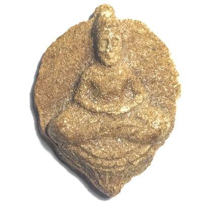 Pra Po Jak Bai Po Hlang Yant Duang Pim Yai Niyom 2500 BE - Nuea Gesorn - Bodhileaf Buddha with Yantra on Rear Face - Luang Por Lee Wat Asokaram