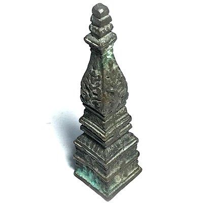 Roop Lor Pratat Panom Jamlong 2 Inches High Sacred Buddha Relic Chedi Stupa of Wat Pratat Panom Circa 2500 BE