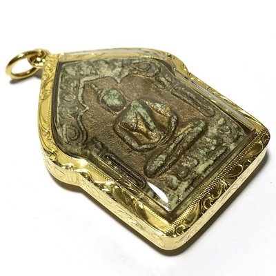 Khun Phaen Prai Kumarn Pim Niyom 2515 BE Block 2 Nuea Khaw Hniaw Sukh Takrut Maha Bpraab with Authenticity Certificate Gold Frame Luang Phu Tim
