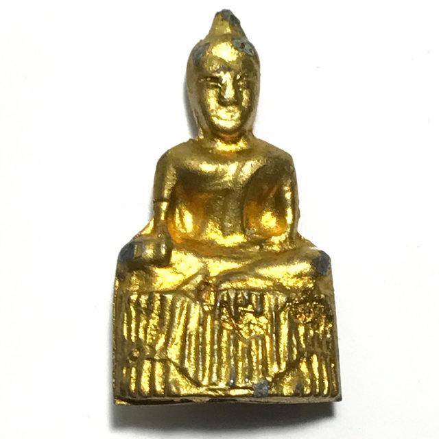 Pra Pim Praput Chin Dtakua Galai Tong Fang Khiaw Hmaa Pha Circa 2460 BE Buddha Amulet with Wolf Tooth - Luang Por Dam - Wat Kuti 03351