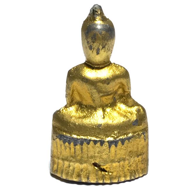 Pra Pim Praput Chin Dtakua Galai Tong Fang Khiaw Hmaa Pha Circa 2460 BE Buddha Amulet with Wolf Tooth - Luang Por Dam - Wat Kuti