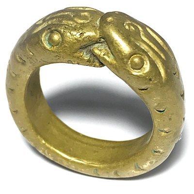 Hwaen Ngu Giaw Lor Boran Magic Serpentine Ring of Protection Wealth & Treasure 2460 BE - Luang Por Im - Wat Hua Khao