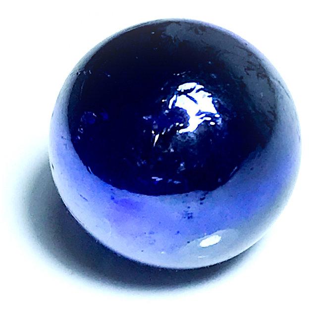 Look Gaew Sarapat Neuk Blue Crystal Wishing Ball 1 Cm - Luang Por Opasi - Asrom Bang Mot 2490 BE 03358