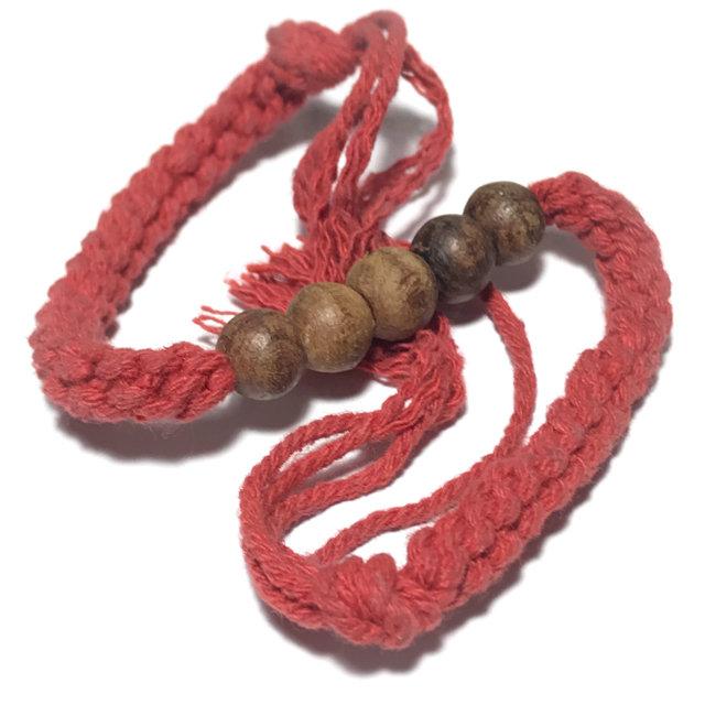 Prakam Lek Phuug Khor Mer Chueak Daeng Wicha Lanna 5 Rosary Bead Blesséd Bracelet - Kroo Ba Chum 03370