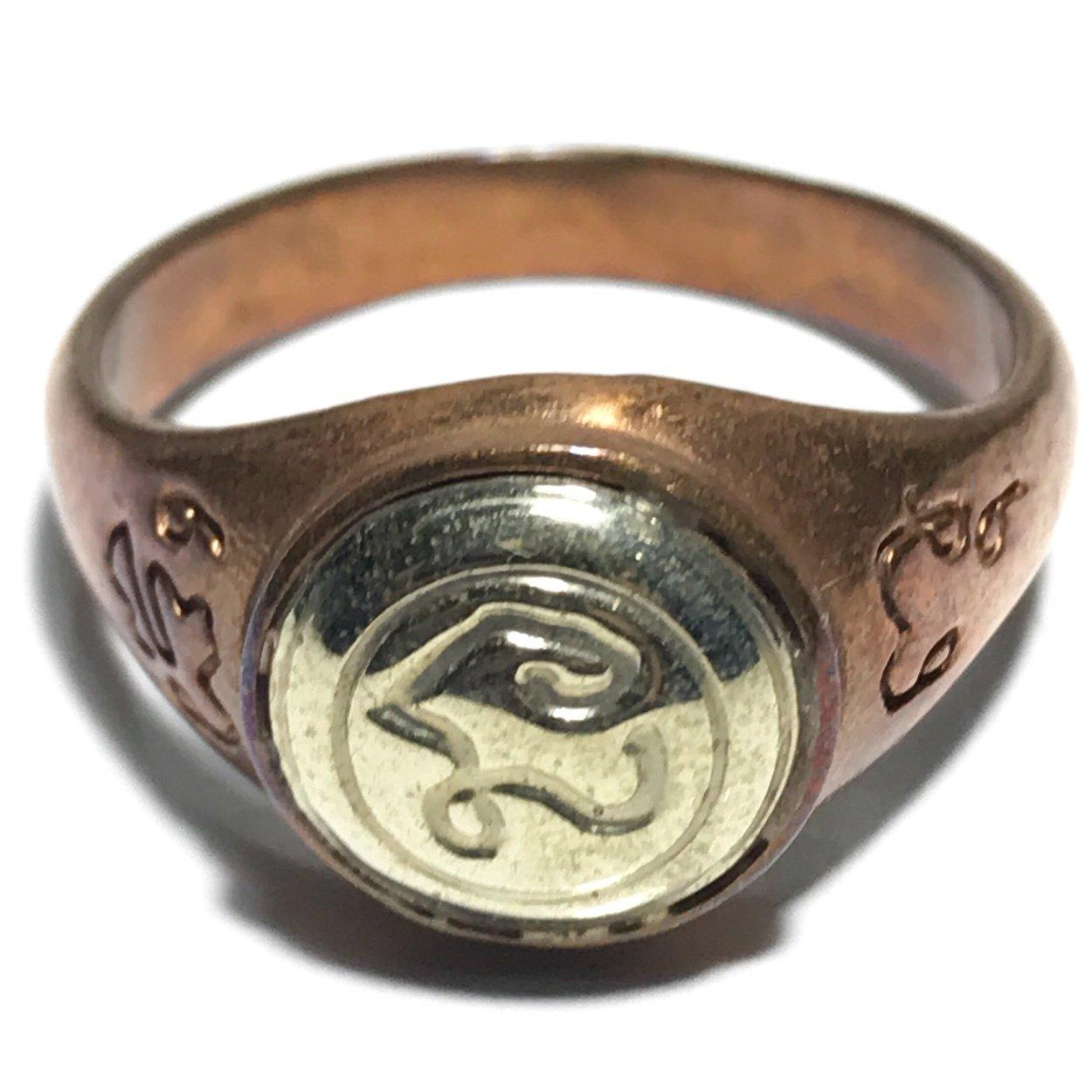 Hwaen Hua Na Bad Dtalord Magic Ring With Sacred Na Spell Luang Por Phaew Wat Tanode Luang 03374